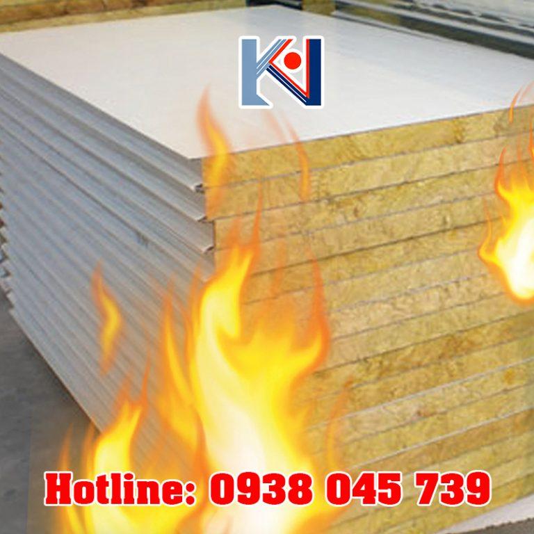 Panel rockwool chống cháy