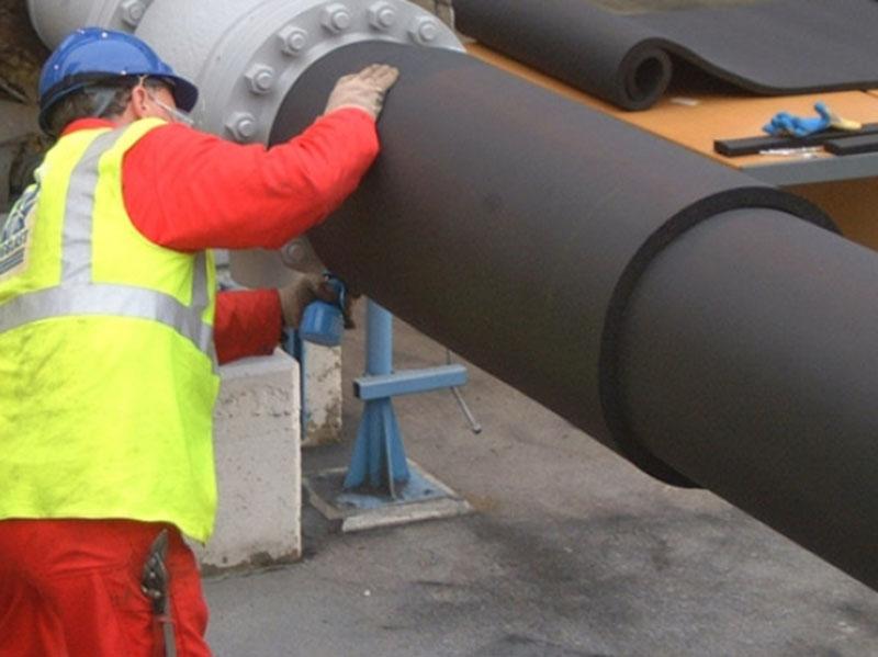 Thi công ống superlon thi công đường ống dẫn nước nóng.