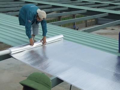Ứng dụng túi khí cách nhiệt thi công cách nhiệt chống nóng mái