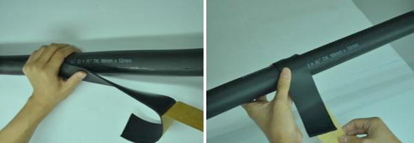 Dán keo gioang chuyên dụng vào điểm nối
